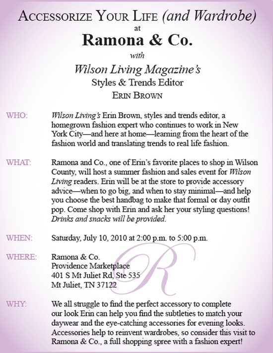 WLM - Upcoming Events - Ramona & Co