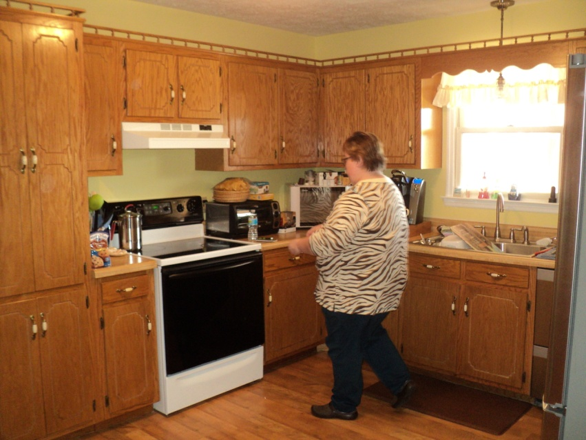 Although They Had Already Purchased Several New Appliances When Moving In The House The Kitchen Was Still Somewhat Dated