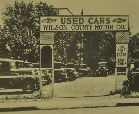 GMC Dealership: One of the earliest photos of the dealership started by Winstead Bone.